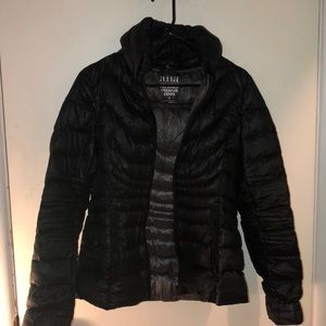 a.n.a Black down feather jacket